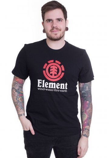 Element - Vertical Flint Black - T-Shirt