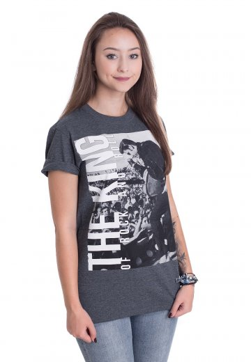 Elvis Presley - The King Grey - T-Shirt