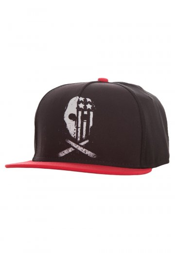 7bb77469 Fall Out Boy - USA Skull Black/Red - Cap - Official Emo Merchandise Shop -  Impericon.com UK