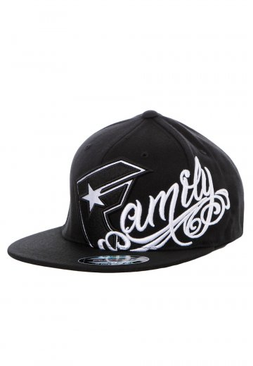 f8c22257ecd Famous Stars And Straps - Family Is Forever Black White Flex Fit - Cap -  Impericon.com Worldwide