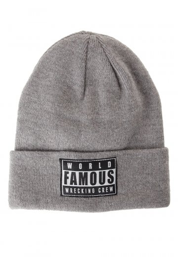 e52aa603d6d Famous Stars And Straps - WFWC Roll Up Heather Grey - Beanie -  Impericon.com Worldwide