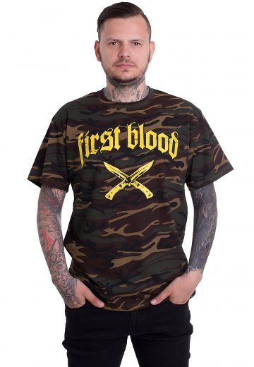 First Blood - Don't Stop Fighting Green Camo - T-Shirt