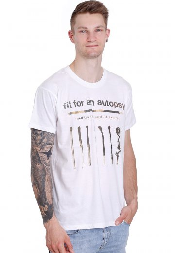 Fit For An Autopsy - Feed The Fire White - T-Shirt
