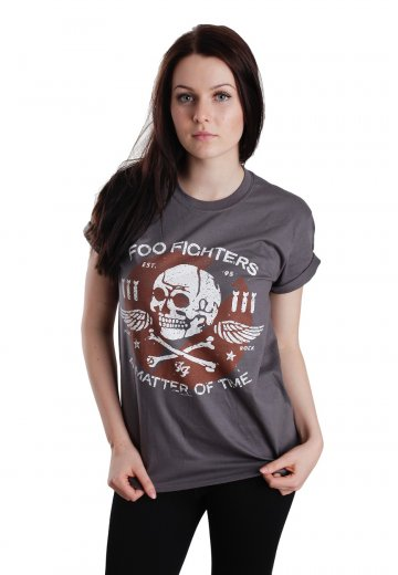 582ea5bbb430 Foo Fighters - Matter Of Time Charcoal - T-Shirt - Official Pop Merchandise  Shop - Impericon.com US