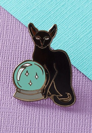 Punky Pins - Fortune Teller Cat Enamel - Pin