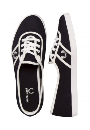 Fred Perry - Aubrey Twill Navy/White - Girl Shoes