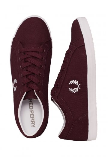 Fred Perry - Baseline Canvas Ox Blood - Shoes