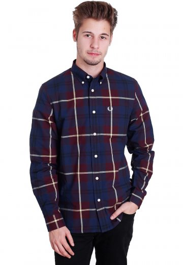 Fred Perry - Bold Check Aubergine - Shirt