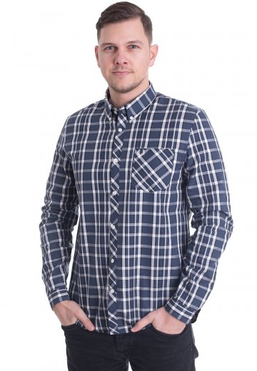 Fred Perry - Bold Check Service Blue - Shirt