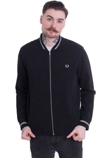 Fred Perry - Bomber Neck Sweat - Cardigan