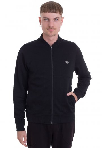Fred Perry - Pique Bomber Sweat Black - Jacket