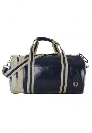 Fred Perry Classic Barrel NavyMid BlueTwill Bag