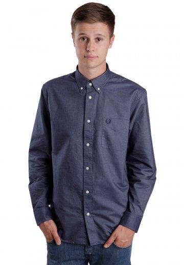 Fred Perry - Classic Oxford L S Dark Carbon - Skjorta - Streetwear ... 954a89e27ad5e