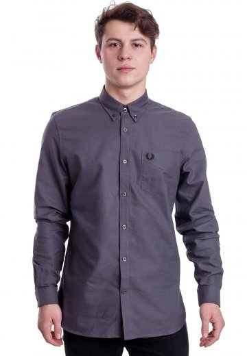 Fred Perry - Classic Oxford Gunmetal - Shirt