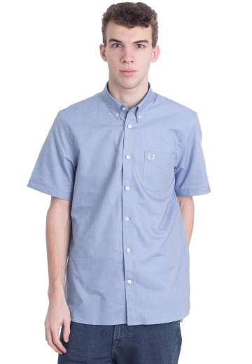 Fred Perry - Classic Oxford Mid Blue - Shirt