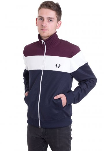 Fred Perry - Colour Black Carbon Blue - Track Jacket