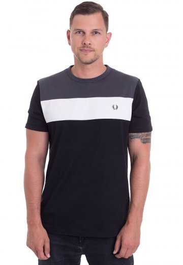 Fred Perry - Colour Block Panel Black - T-Shirt