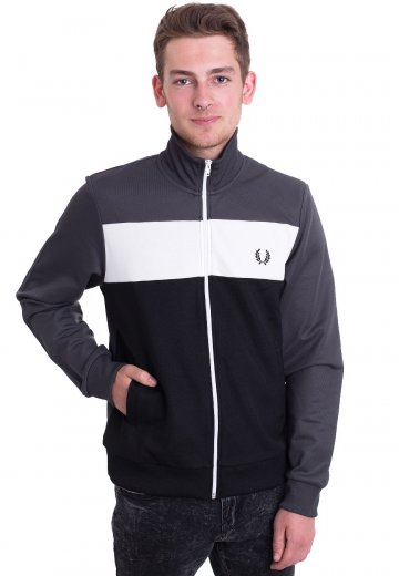 Fred Perry - Colour Block Charcoal Solid - Track Jacket