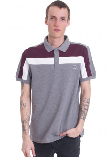Fred Perry - Colour Block Panel Pique Steel Marl - Polo