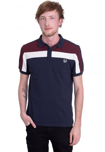 Fred Perry - Colour Block Pique Carbon Blue - Polo