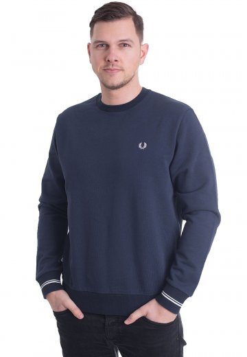 Fred Perry - Crew Neck Dark Night - Sweater