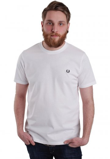 Fred Perry - Crew Neck White - T-Shirt