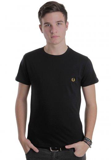 e8fc11e52b7d Fred Perry - Crew Neck Plain Black/New Yellow - T-Shirt - Streetwear Shop -  Impericon.com US