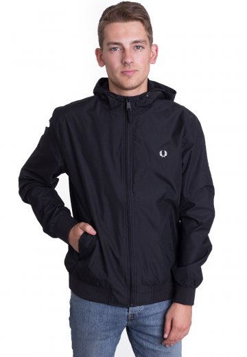 Fred Perry - Hooded Brentham Black - Jacket