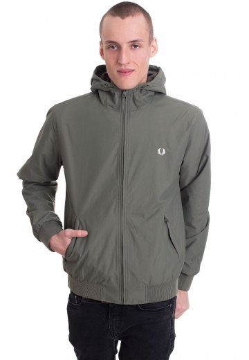 Fred Perry - Hooded Brentham Olive Drab - Jacket