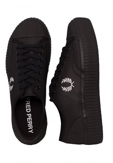 Fred Perry - Hughes Platform Low Coated Canvas Black - Girl Shoes