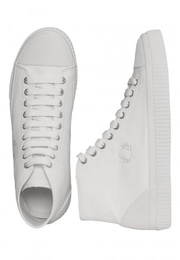 Fred Perry - Hughes Mid Canvas Snow White - Girl Shoes