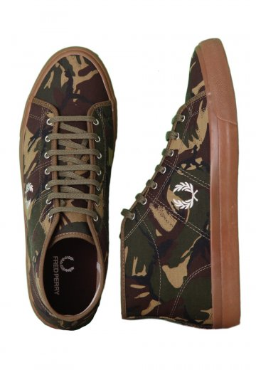 Fred Perry - Kendrick Mid Camo British Olive Light Ecru - Shoes -  Impericon.com US d4035a14c4