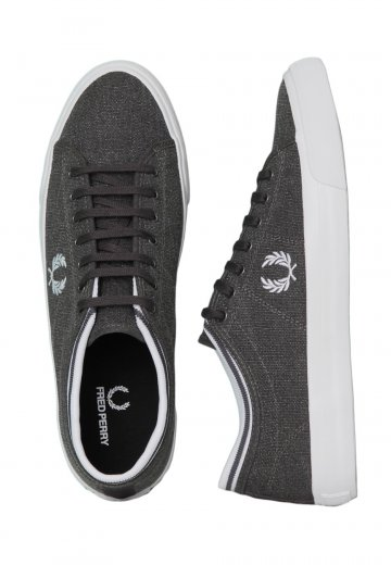 Fred Perry - Kendrick Tipped Cuff Pigment Dyed Charcoal White - Shoes -  Impericon.com Worldwide b7d7b7e663