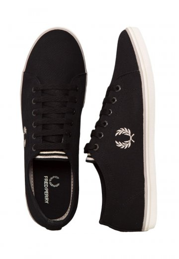 Fred Perry - Kingston Twill Black/1964 Silver/Natural - Shoes