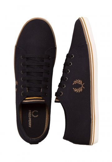 Fred Perry - Kingston Twill Navy/Almond/Sahara - Shoes