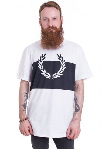 Fred Perry - Laurel Wreath Print White - T-Shirt