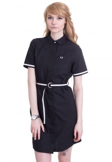 Fred Perry - Oxford Shirt Black - Dress