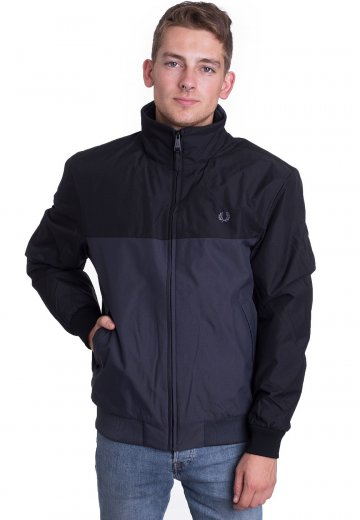 Fred Perry - Panelled Quilted Brentham Graphite - Jacket