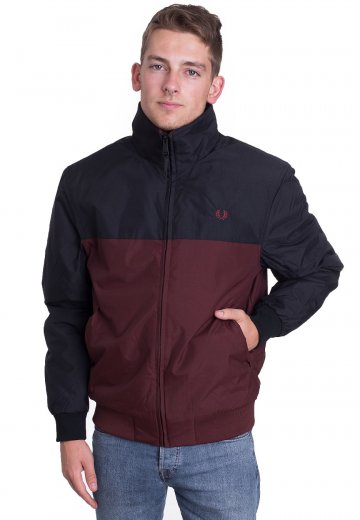 Fred Perry - Panelled Quilted Brentham Stadium Red - Jacket