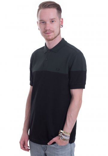 Fred Perry - Panelled Pique Black - Polo