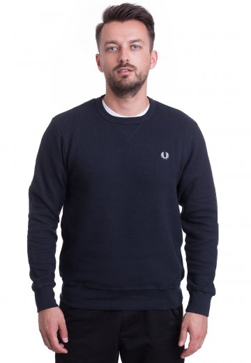 Fred Perry - Pique Crew Neck Blue Granite - Sweater