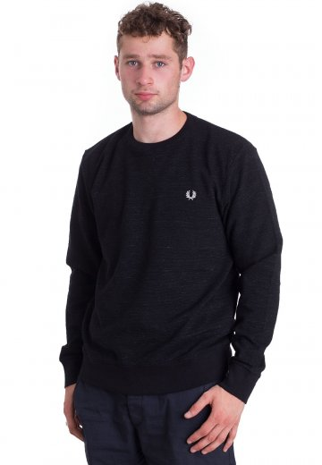Fred Perry - Pique Textured Black - Sweater