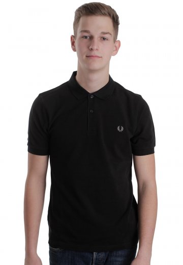 Fred Perry - Slim Fit Black/Chrome - Polo