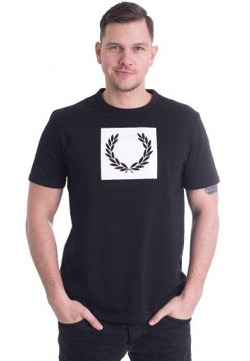 Fred Perry - Printed Laurel Wreath Black - T-Shirt