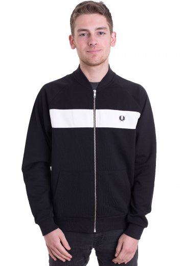Fred Perry - Reverse Tricot Black - Track Jacket