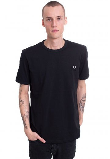 Fred Perry - Ringer Black - T-Shirt