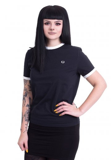 Fred Perry - Ringer Navy - Girly