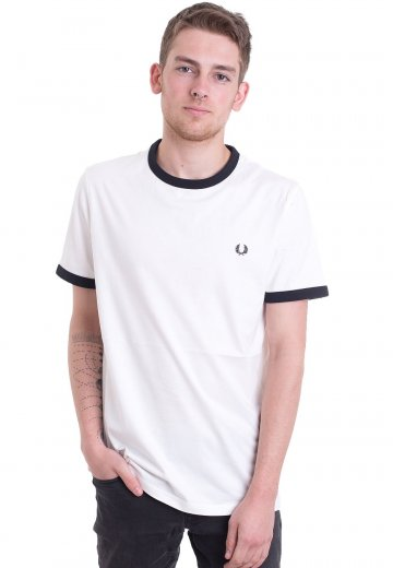 Fred Perry - Ringer Snow White - T-Shirt