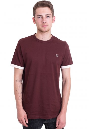 Fred Perry - Ringer Stadium Red - T-Shirt