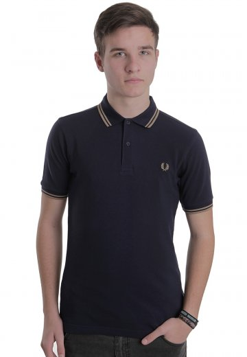 10b2c8840 Fred Perry - Slim Fit Twin Tipped Blue Granite - Polo - Streetwear Shop -  Impericon.com US